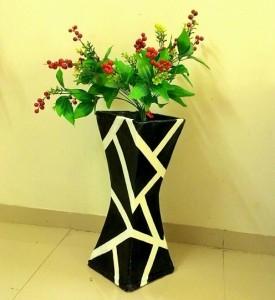 آموزش درست کردن گلدان با کارتون به صورت تصویری