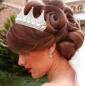 آرایش مو عروس با تور و جدیدترین شینیون