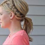 آموزش تصویری بستن مو بلند شکل دم اسب