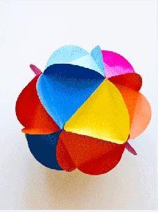 آموزش تصویری ساخت توپ تزیینی ایام دهه فجر