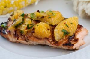 روش درست کردن ماهی قزل آلا با لیمو و نعنا