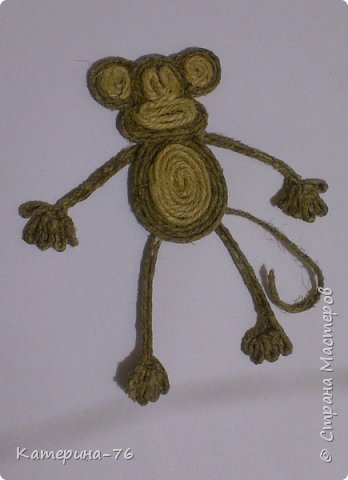DIY-Monkey-with-cotton-twine-11