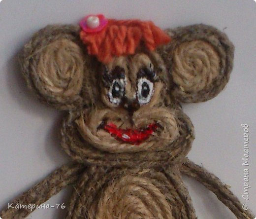 DIY-Monkey-with-cotton-twine-13