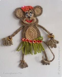 آموزش تصویری ساخت عروسک کنفی میمون