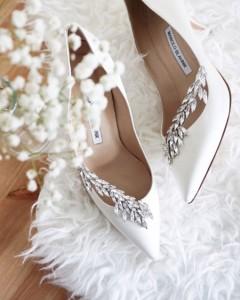 جدیدترین مدل کفش سفید عروس بهار 95