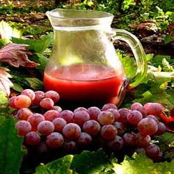 درمان تپش قلب با خوردن آب انگور