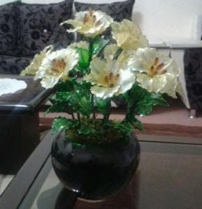 آموزش تصویری ساخت گل کریستالی