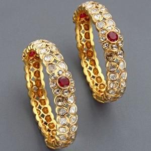 مدل جدید دستبند طلا طرح دار 95