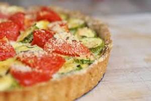 روش درست کردن تارت رژیمی گوجه با کدو