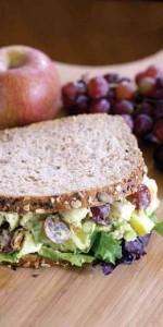 روش درست کردن سالاد مرغ و انگور با سس آووکادوی کرمی