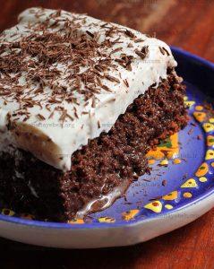 آموزش تصویری روش درست کردن کیک سه شیر و سه شکلاتی