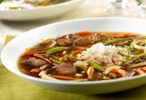 روش درست کردن سوپ با گوشت و نخود آسیایی