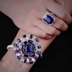 مدل های جدید جواهرات با سنگ های رنگی
