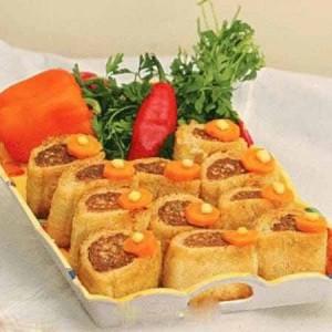 روش درست کردن لقمه گوشت و قارچ و پنیر