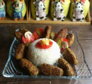 کباب گوشت و بلغور