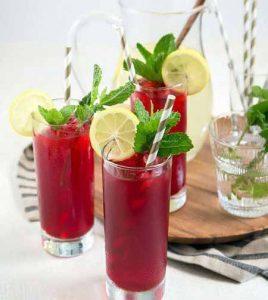 روش درست کردن نوشیدنی چای ترش و لیموناد ویژه افطار