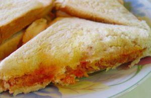 روش درست کردن ساندویچ نان تست با نخود