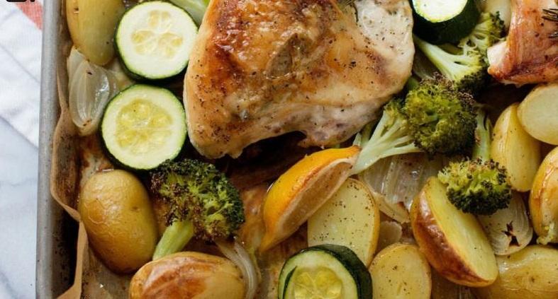 طرز تهیه  کباب مرغ و سبزیجات
